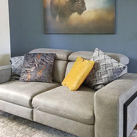 Klantfoto: Amerikaanse Bizon van Diana van Tankeren, op canvas