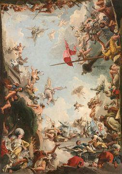 Die Glorifizierung der Familie Giustiani, Giovanni Domenico Tiepolo