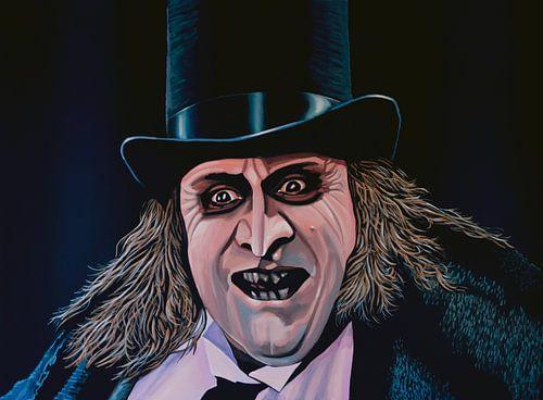 Danny de Vito als De Penguin schilderij van Paul Meijering