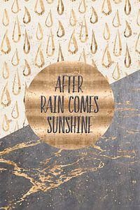 GRAFISCHE KUNST Na regen komt zonneschijn