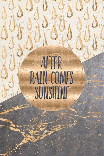 GRAFISCHE KUNST Na regen komt zonneschijn van Melanie Viola