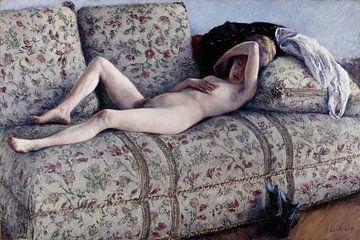 Naakt op een bank, Gustave Caillebotte
