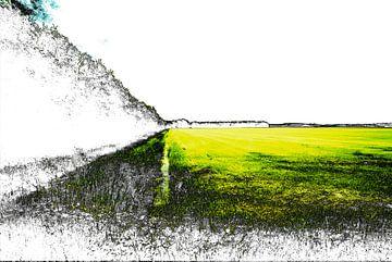 Gestoord Landschap #005 van Peter Baak