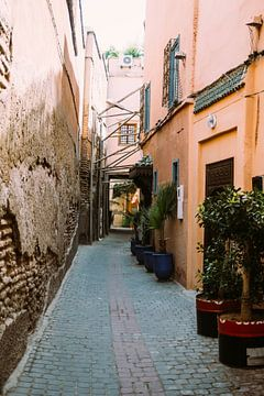 Straat in Marrakech van Patrycja Polechonska