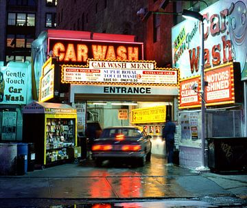 Wasstraat voor auto's in New York van William Aussie