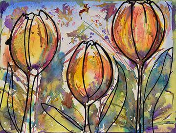 Wilde tulpen van Jessica van Schijndel