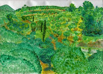 Türkische Landschaft mit Olivenbäumen von Maartje Kaper