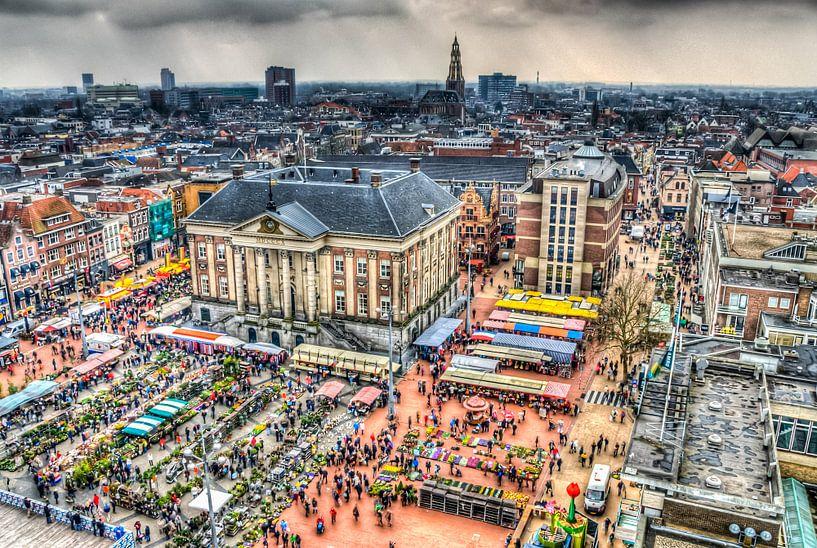 Grotemarkt Groningen van Marcel Braam