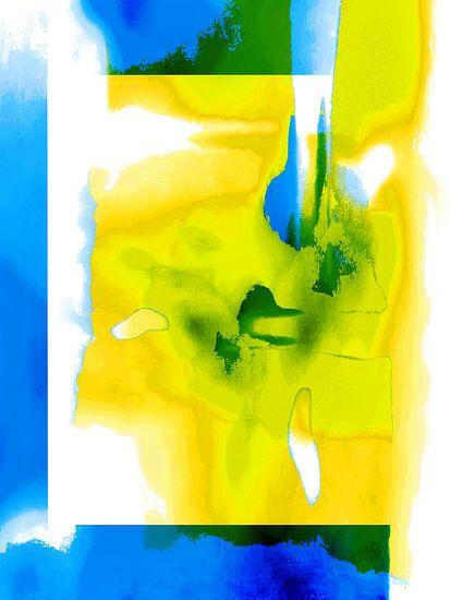 The digital face in yellow van Gabi Hampe