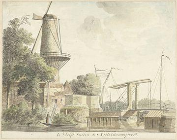 Rotterdamse Poort te Delft, Hendrik Tavenier, 1784