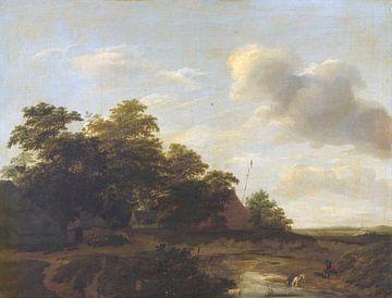 Landschap met boerderij, Jan Vermeer van Haarlem van