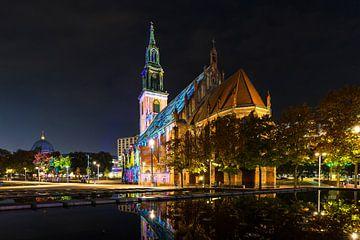 St. Marienkirche auf dem Berliner Alexanderplatz von Frank Herrmann