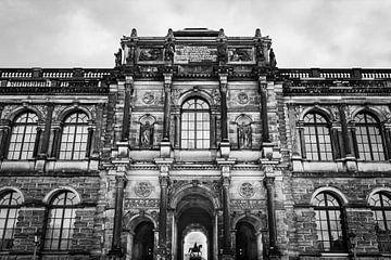 Zwinger paleis in zwart-wit van Henk Meijer Photography