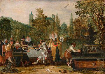 Fröhliche Gesellschaft in einem Park, Esaias van de Velde