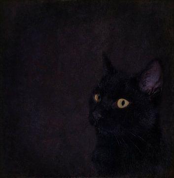 Zwarte kat van Guna Andersone