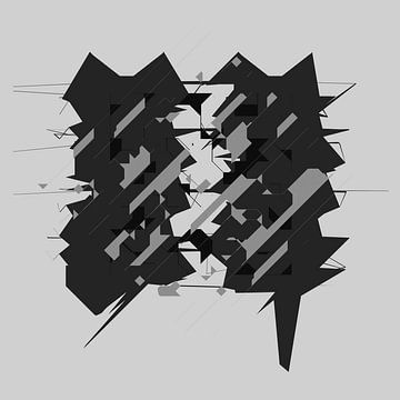Black and White abstract digital art van Marc Brinkerink