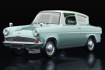 Ford Anglia 123E Deluxe driekwart zicht