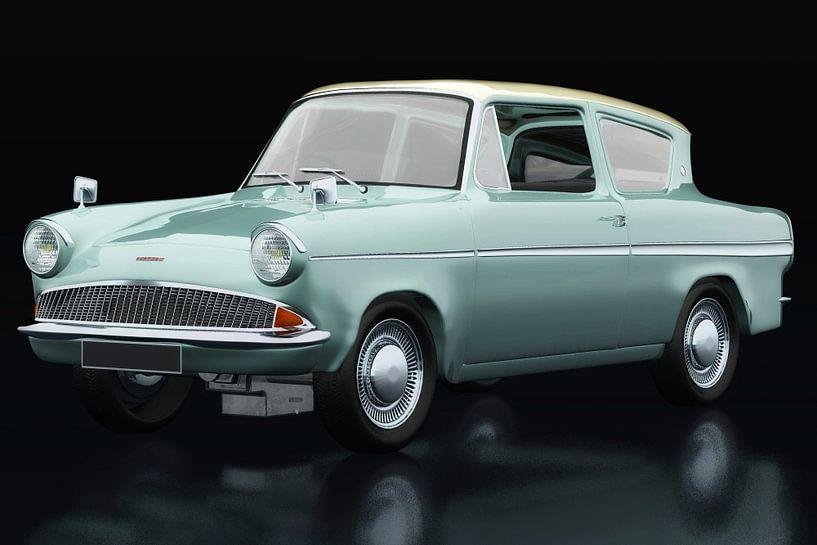 Ford Anglia 123E Deluxe vue trois quarts sur Jan Keteleer