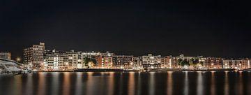Amsterdam Veemkade in der Nacht