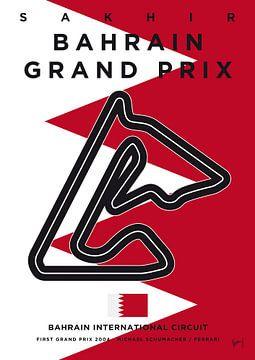 My F1 BAHRAIN Race Track Minimal Poster van Chungkong Art