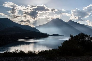 Sonnenuntergang Lac du Mont-Cenis von Adriaan Hulzinga