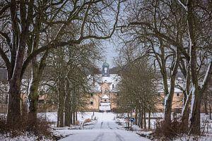 Winterliche Eichenallee am Gutshof von Jürgen Schmittdiel Photography