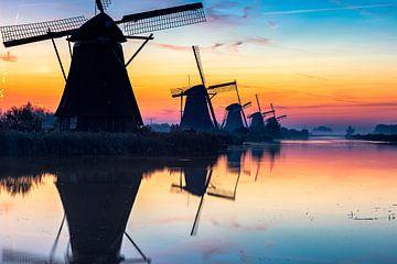 Les moulins à vent de Kinderdijk sur