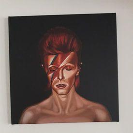 Kundenfoto: David Bowie Aladdin Sane Black von Paul Meijering, auf leinwand