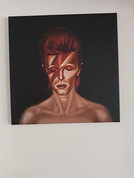 Klantfoto: David Bowie Aladdin Sane Black