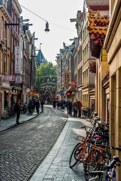 De Zeedijk en Chinatown in Amsterdam.