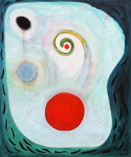 Rode stip 60 x 70 cm van Marc Otte