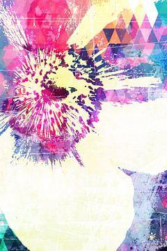 FLOWER 219 - Moderne Wandkunst von Ron Labryzz