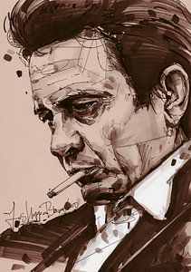 Johnny Cash kunst von