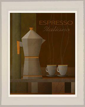 Espresso Italiano - Art Deco van Joost Hogervorst