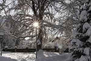 Verschneites Dorf von Andreas Stach