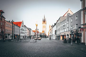 Straubing stadsplein Beieren Neder-Beieren van Thilo Wagner