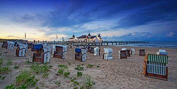 La jetée d'Ahlbeck avec ses chaises de plage