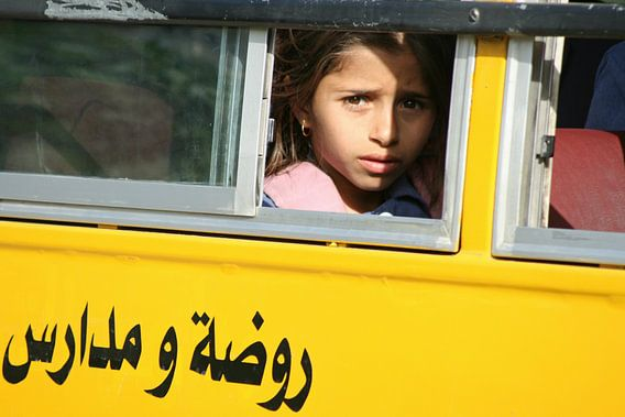 Schoolmeisje in Jordanië