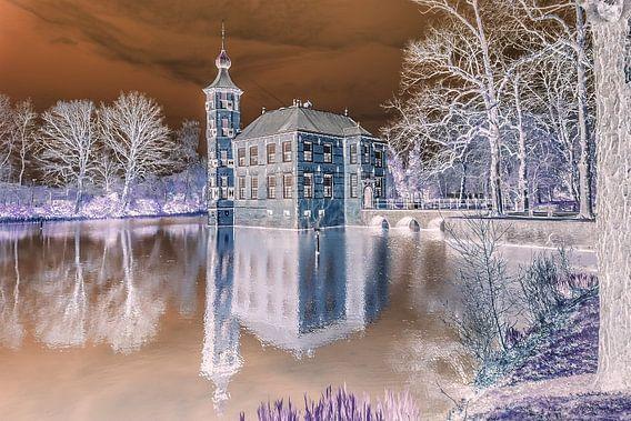 Kasteel Bouvigne in Breda (negatieve print)