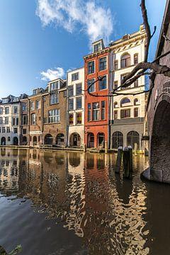 DE Oudegracht, Maartensbrug en panden aan de Lijnmarkt in Utrecht van De Utrechtse Grachten