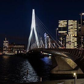 Pont Erasmus et vue sur la kop van Zuid sur Eddie Meijer