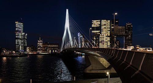 Pont Erasmus et vue sur la kop van Zuid sur