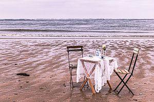 Garden Chair traveling in Zeeland VI van Irene van de Wege