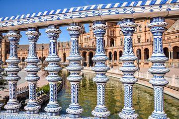Typisch spanisches Fechten auf der Plaza de España, Spanien von Maartje Abrahams