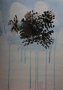 Drips: bloemen in transparante vaas van