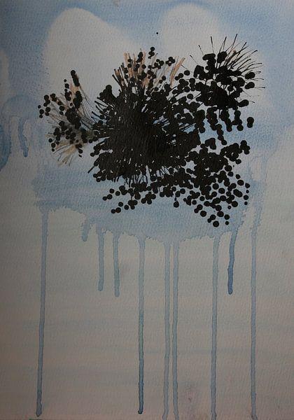 Drips: bloemen in transparante vaas van Catharina Mastenbroek