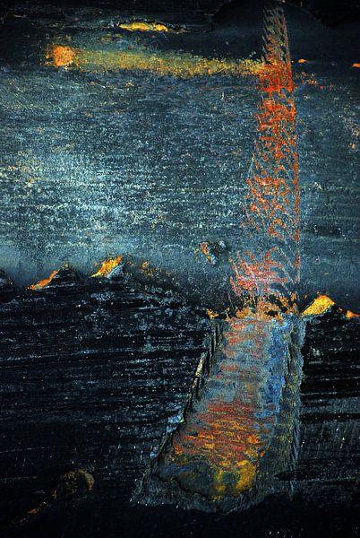 Abstract nacht landschap van Annemie Hiele