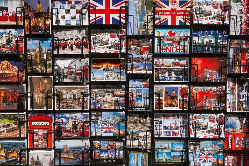 London postcards, postkaarten in Londen van Michèle Huge