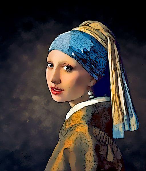 Stripboek Meisje met de Parel van Vermeer van Arjen Roos