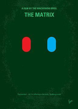 No117 My MATRIX minimal movie poster van Chungkong Art